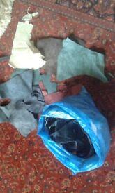 Quality Leather Cut-offs Various colours/sizes 3.5kg