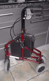 Reduced to sell - Tri-Walker made by Z-TEC - Lightweight alluminium in metallic red