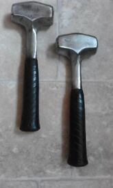 lump hammers steel shafted x 2