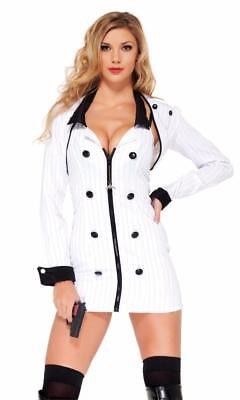 Mobster Minx Costume Dress Bolero Jacket Toy Gun Pinstripe Mafia Gangster 559305 - Female Gangster Costumes