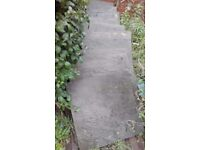 WEATHERED GREY WETHERDALE PAVING SLABS (L)560MM (W)560MM