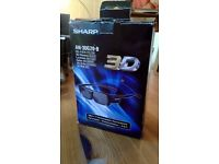 Sharp AN-3DG20-B 3D Glasses Sharp Aquos 3D TV's Lightly Used
