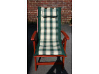 2 x Royal Craft Green checked Recliner Seat Cushion ONLY