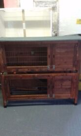 Wooden Guinea pig/rabbit hutch - 2 levels