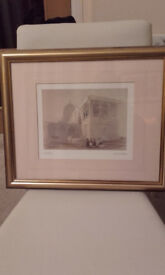 Small egyptian scene print by David Roberts
