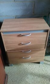 Light oak effect chest of drawers