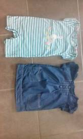Two Jojo Maman Bebe baby girl's outfits in excellent condition