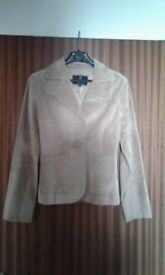 Ladies Suede Tan Jacket,Size 10,Paul Berman,Excellent condition.