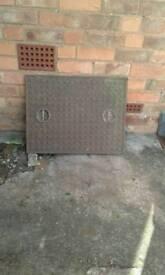 Manhole cover and Frame. Cast Iron.