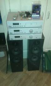 Amplifier, CD player, DAB, Speakers