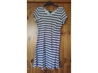 Navy and white dress size 14