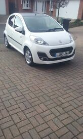 PEUGEOT 107 ENVY 5DOOR LOW MILEAGE ZERO ROAD TAX IMMACULATE CONDITION