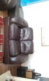 Modern 3+2 seater leather suite