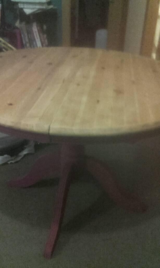 Hand refurbished table.