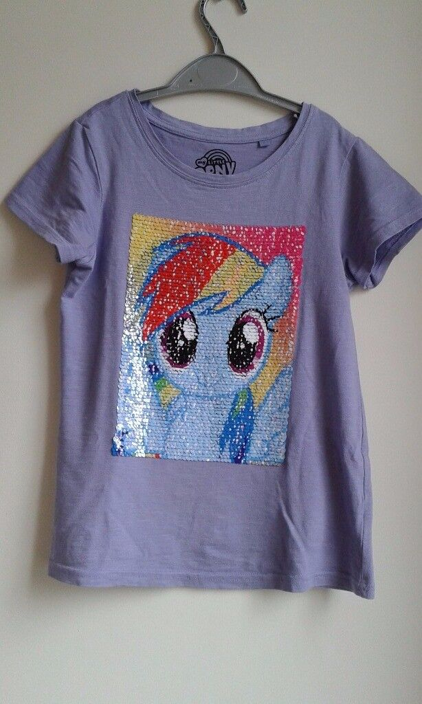 my little pony tee shirt with reversible sequins from next size age 9 in frampton cotterell. Black Bedroom Furniture Sets. Home Design Ideas