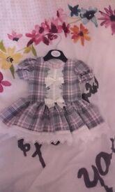 Pink and grey tartan dress