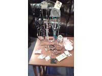 Job lot of Costume Jewellery over 30 pieces, some unused with original cards attached