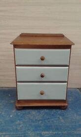 CHEST OF DRAWERS - 3 DRAWS - SHABBY CHIC