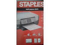 Multi purpose Adhesive Labels for Printers