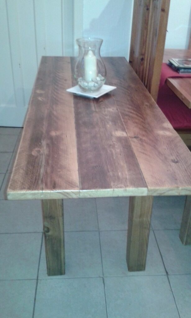 HAND MADE RUSTIC STYLE DINING/KITCHEN TABLESin Cardonald, GlasgowGumtree - HAND MADE RUSTIC STYLE DINING/KITCHEN TABLES I MAKE THESE TABLES FROM OLD RECLAIMED TIMBER THE WOOD IS CLEANED, PLANED AND SANDED BEFORE THEY ARE GIVEN 2 COATS OF WAX AND POLISHED SIZES ARE 4FT 5FT OR 6FT LONG AND A STANDARD 26INCH AND A STANDARD 30...