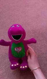 Singing Barney teddy