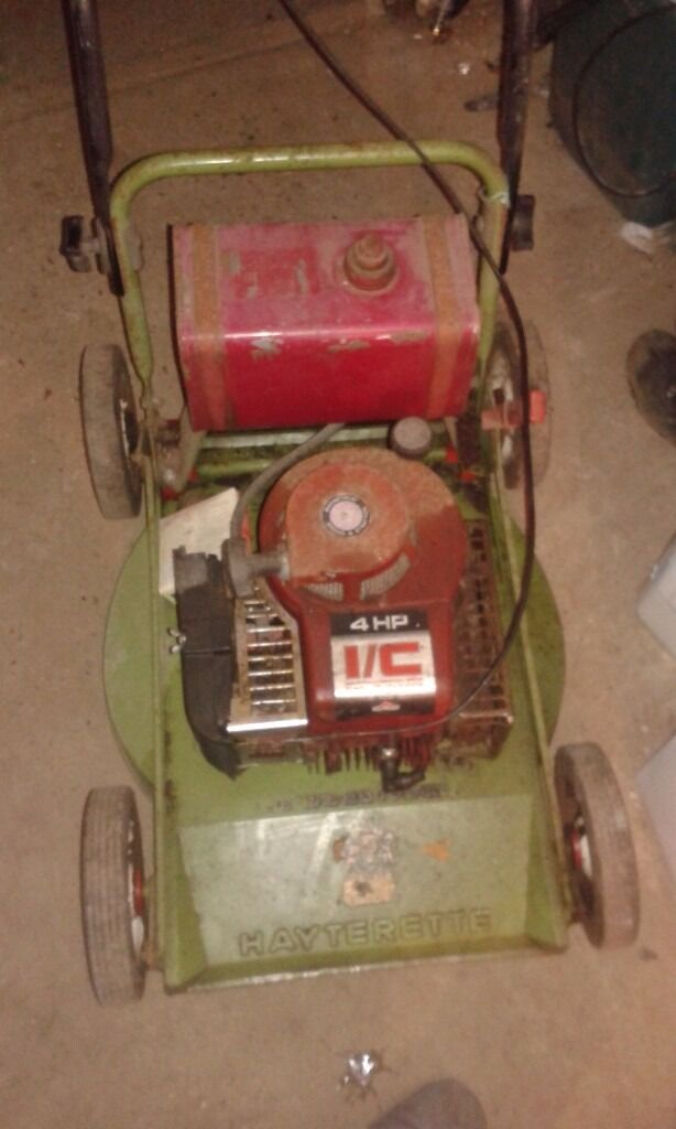 **PROFESSIONAL HAYTERETTE**PERTOL LAWNMOWER**SPARES OR REPAIR**BRIGGS AND STRATTON**