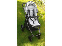 Uppa Baby Vista 2014 pushchair, carrycot and accessories in Black/Silver-excellent condition.