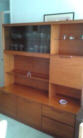 Morris of Glasgow Teak Display Drinks Cabinet in excellent condition