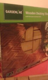 GARDENLINE WOOD DECKING TILES OVERSTOCK !!!!