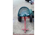 H Banford & Sons 1024 vintage cast iron reaper/binder seat. Can take off Buggy & drawbar