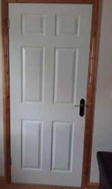 4 white doors