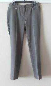 Ladies size 10 trousers. Regular length. Taupe colour.