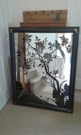 Hand painted large mirror