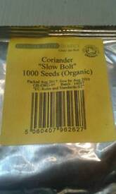 1000 coriander seeds and 5th black bamboo seeds