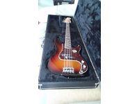 Fender Bass Guitar and Amplifier