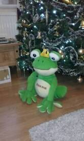 Large frog soft toy