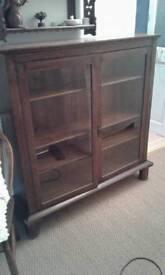 Original oak rectory bookcase