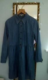 M&S limited edition denim dress size 10