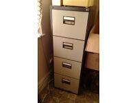 Metal, lockable, 4 drawer filing cabinet