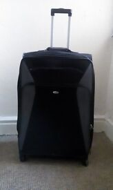 Used Black Fabric Luggage