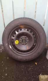 Wheel Rim and Goodyear NCT5 Tyre (205 55 R16) - As New : £45 ono