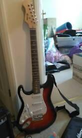 Rockburn left handed electric guitar