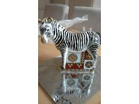 limited edition royal crown derby large zebra brand new never been used been wrapped in paper