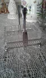 Vintage cut glass breakfast set