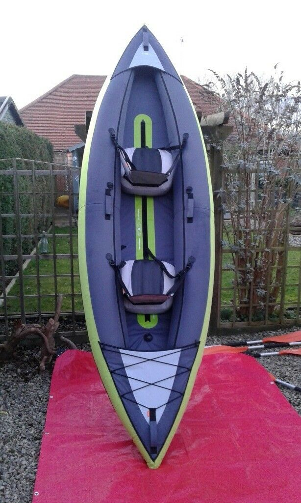 2 Man Inflatable Kayak With Extras Itiwit Decathlon Brand