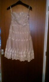 light brown/beige kookai dress size 8-10