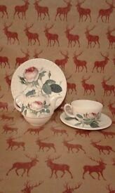 Roy Kirkham teapot, cup, saucer and plate, Redoute rose pattern, beautiful!