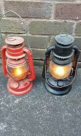 2 paraffin lamps.