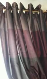 Plum colours curtains