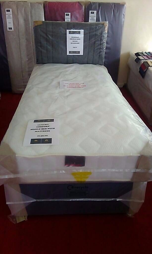 NEW Myer Adams Luxury Comfort Single Bed With Mattress